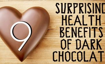 9 SURPRISING HEALTH BENEFITS OF DARK CHOCOLATE