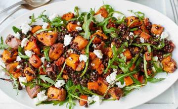 Sweet Potato, Lentil & Feta Salad