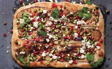 Eggplant & Pomegranate Pizza