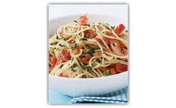 Pasta with Garlic Prawns