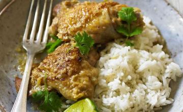 Chicken Braised with Lemongrass & Ginger