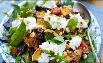 Cumin-Roasted Beetroot, Squash & Carrot with Herb Salad
