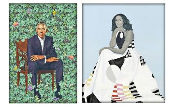 The Obamas unveil their not-so-traditional official portraits