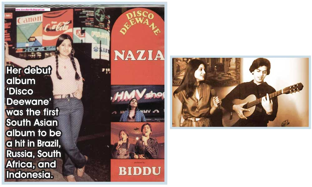 Google honours Nazia Hassan through 'doodle' on her 53rd birthday