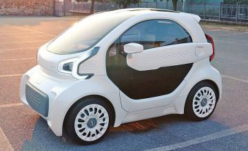 World's first 3D-printed electric CAR takes three days to build and costs just £7,500