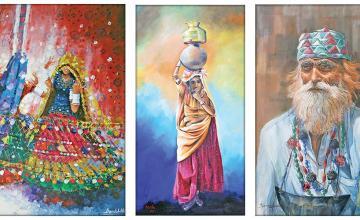 An exhibition titled Baad-e-Saba A Joy To Behold