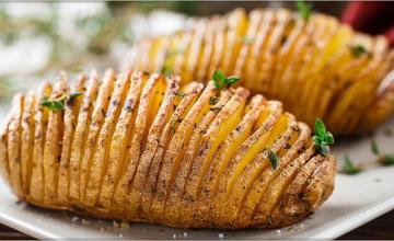 Herbed Hasselback Potatoes