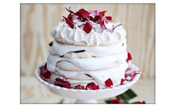 Rose Water Pavlova Cake