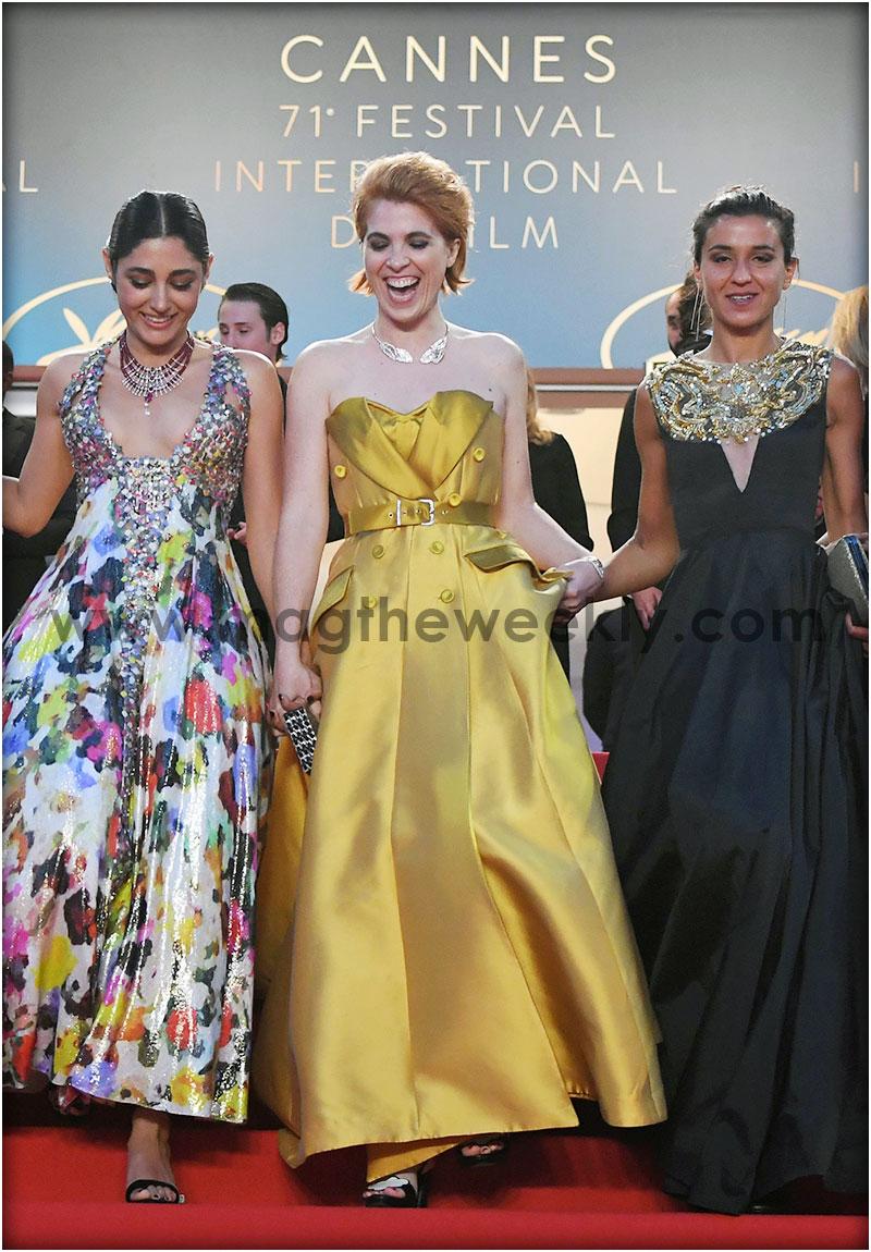 Iranian actress  Golshifteh Farahani, French director Eva Husson and  French-Iranian actress Behi Djanati Atai