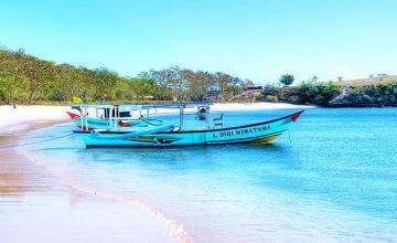 Pink Beach, Komodo Island, Indonesia
