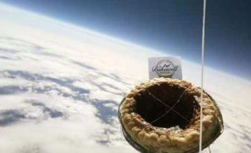 Tart 'lost in space' as primary school pupils lose track of pudding sent into stratosphere