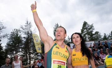 Lithuanian couple claim the title of world wife-carrying championship