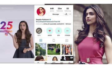 Deepika enjoys 25 million followers on Insta