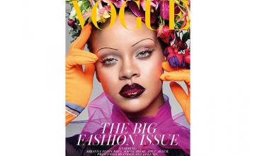 Rihanna Ditches Her Eyebrows for Vogue cover