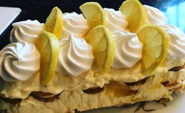 Lemon Meringue Fridge Cake