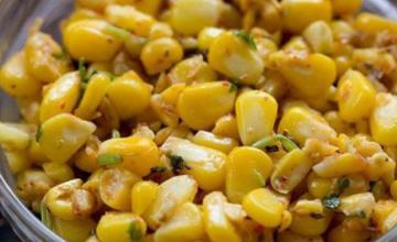 Italian style corn chaat
