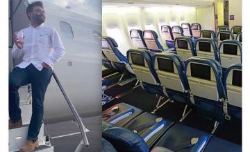 Lone passenger on Delta flight