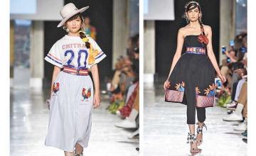 Mushk Kaleem and Alicia Khan walk the ramp at Milan Fashion Week