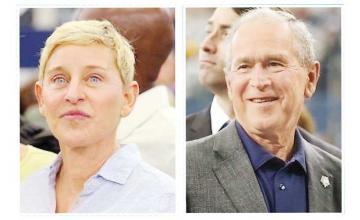 Ellen DeGeneres explains friendship with George Bush