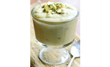 Pistachio Coconut Pudding