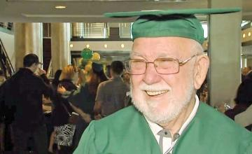 81-year-old grandfather graduates college after completing final course nearly 50 years later