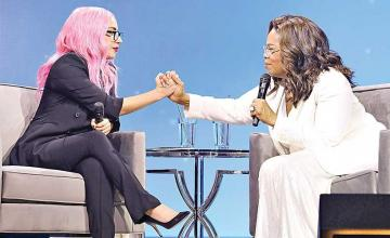 Lady Gaga with Oprah opens about her Chronic Pain