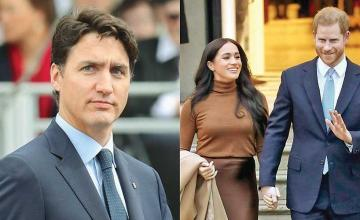 """Justin Trudeau """"isn't entirely sure"""" who will cover Meghan, Harry's security costs"""