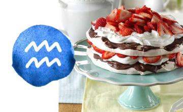 Aquarius: Strawberry-Chocolate Meringue Torte