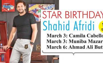 STAR BIRTHDAYS Shahid Afridi