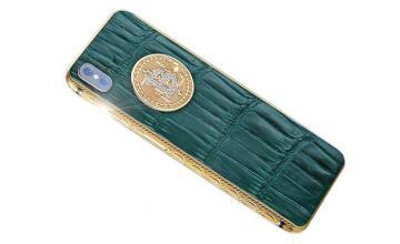 18-carat Gold and Diamond iPhone X Bitcoin Edition