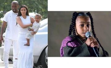 North West makes a singing debut