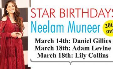 STAR BIRTHDAYS Neelam Muneer