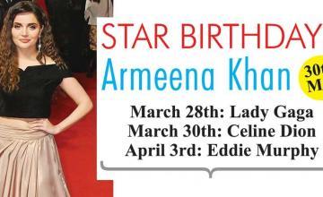 STAR BIRTHDAYS Armeena Khan