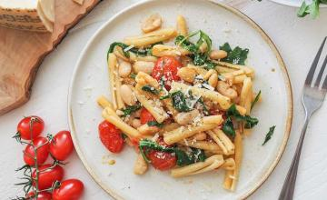 Penne with Roasted Tomatoes and White Beans