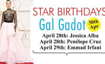 STAR BIRTHDAYS Gal Gadot