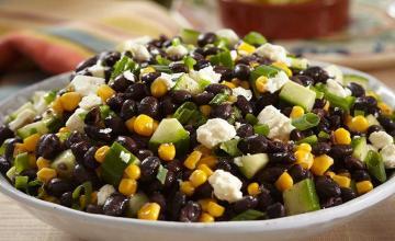 Chilled Black Bean, Feta & Cucumber Salad