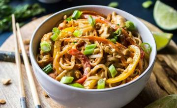Chicken Noodle Soup with Peanut Sauce