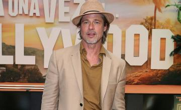 Brad Pitt and girlfriend Nicole Poturalski's spotted in Chateau Miraval