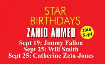 STAR BIRTHDAYS ZAHID AHMED